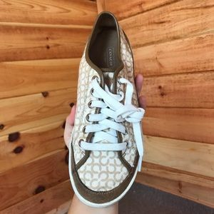 BROWN/BEIGE AUTHENTIC COACH SNEAKERS